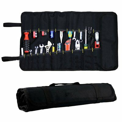 22 Pockets Hardware Tool Roll Pliers Screwdriver Spanner Carry Case Pouch Bag MI
