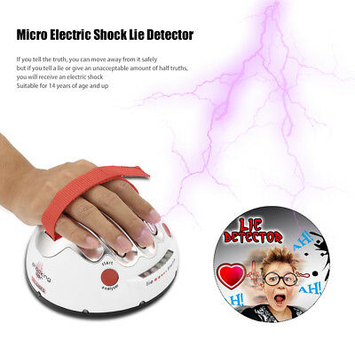 Polygraph Shocking Liar Micro Electric Shock Lie Detector Truth Game Toy BD