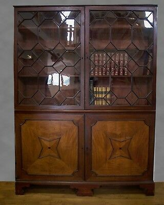 An Unusual George Iii Mahogany Library Bookcase