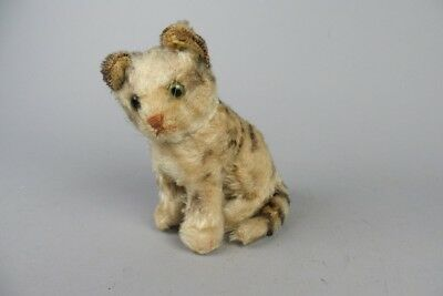"""vintage steiff cat   ,   5""""in. high with button          #5"""