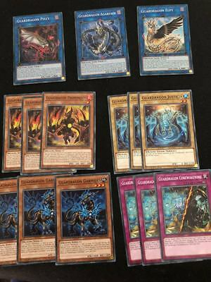 YU-GI-OH! SAST - GUARDRAGON CARDS SET  (15 CARDS) - 1Ed - ENGLISH
