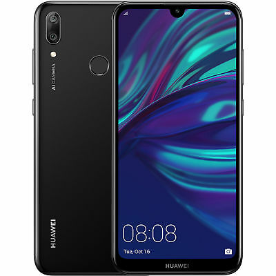 Huawei Y7 2019 DUB-LX3 32GB Unlocked GSM LTE Android 13MP Phone- Midnight Black