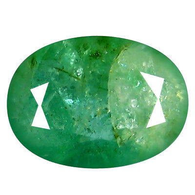 1.21 ct VERY GOOD OVAL CUT (8 x 6 mm) COLOMBIAN EMERALD NATURAL LOOSE GEMSTONE