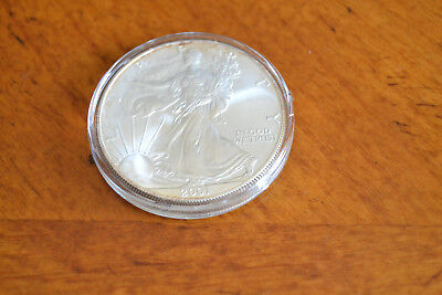 2001 - 1 oz Silver American Eagle Uncirculated BU - UNC in Capsule