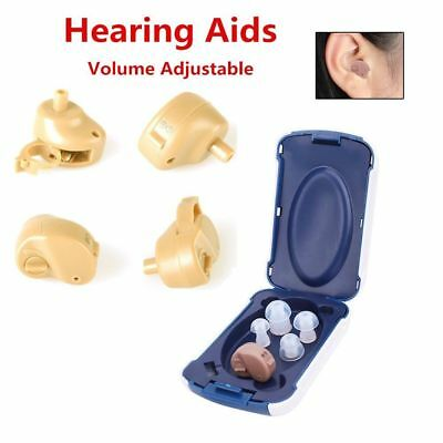 Small In-Ear Voice Sound Amplifier Adjustable Tone Mini Hearing Ear Aid T1