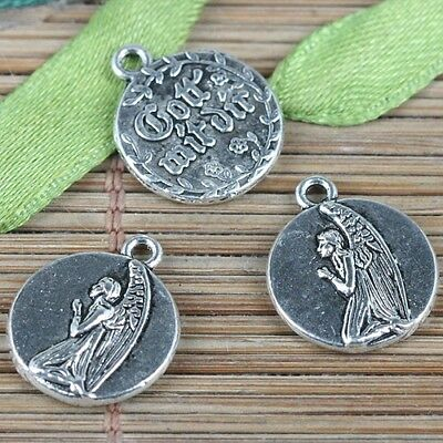 20pcs tibetan silver color praying angel charms EF2255
