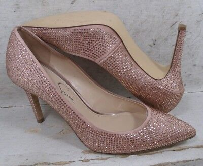 3050a2d34007 Jessica Simpson Womens Levin 2 Nude Blush Pointed Toe Heels Pumps Shoes sz  6.5 M