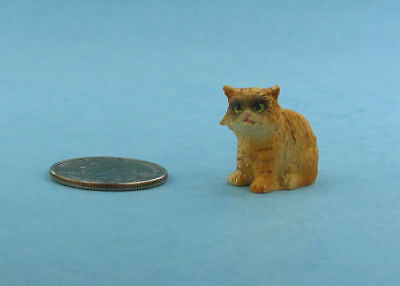 Adorable 1:12 Scale Dollhouse Miniature Long Haired Orange Grumpy Cat #S2595