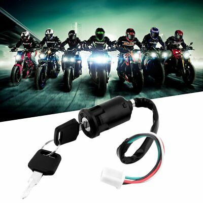 Universal Motorcycle Scooter 4 Pin Ignition Switch With Key Suitable For HondaQ0