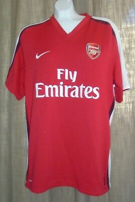 0d01ce3df NIKE FIT DRY Arsenal FC Fly Emirates Soccer Jersey Size Men s Size ...