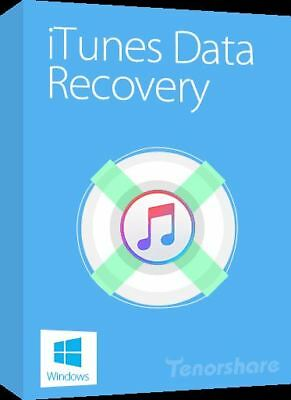 Tenorshare iTunes Data Recovery | Windows PC ⭐Digital Download⭐