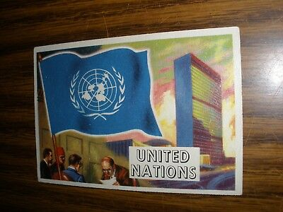 1956 Topps Flags of the World #80 United Nations Last Card in Set Vg
