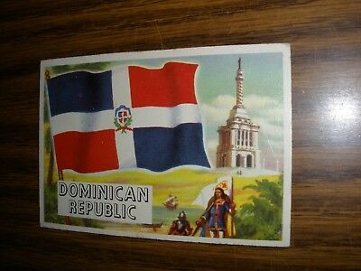 1956 Topps Flags of the World #73 Dominican Republic Good