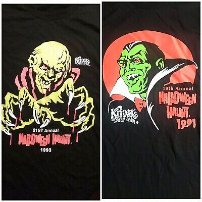 Knotts Scary Farm 1991,1993 2 New shirts buy both for $60, sizes -  L,XL