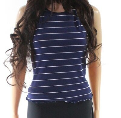cd4911bfea9e JUNIORS CHLOE K Baby Blue Striped Tank Top Size Juniors Large L ...