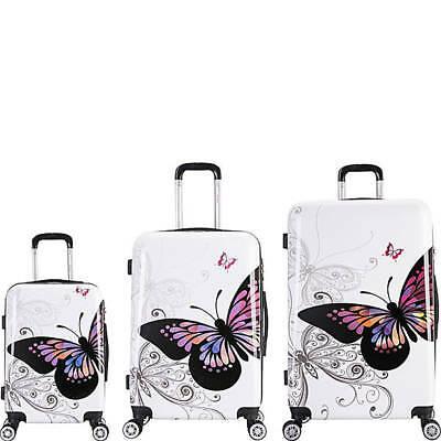 inUSA Luggage Prints 3 Piece Lightweight Hardside Spinner Luggage Set #IUAPCSML