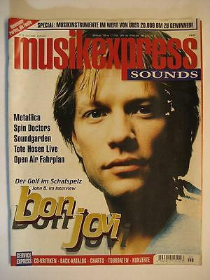 Musik Express Sounds 1996 # 6 - Bon Jovi Metallica Soundgarden Toten Hosen
