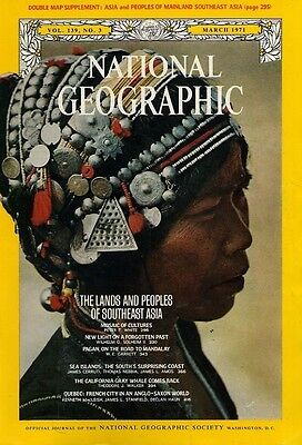 Nat Geographic MAR 1971 WHALES MANDALAY PEOPLES ASIA QUEBEC SOUTH SEAS
