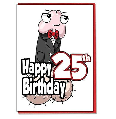 Funny Willy 25th Birthday Card