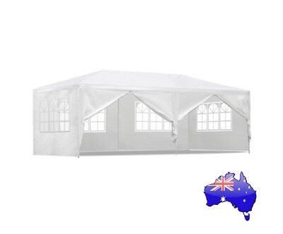 Gazebo Party Wedding Marquee Event Pavilion Tent Shade Canopy Camping White 3x6