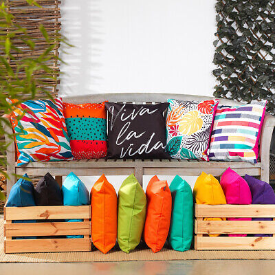 Outdoor Cushion Waterproof Fabric Floral Garden Cushions Filled with Pad