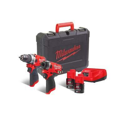 Milwaukee M12FPP2A-202C 12v Twin Pack Fuel 2 x 2.0Ah Batteries, Charger, Case