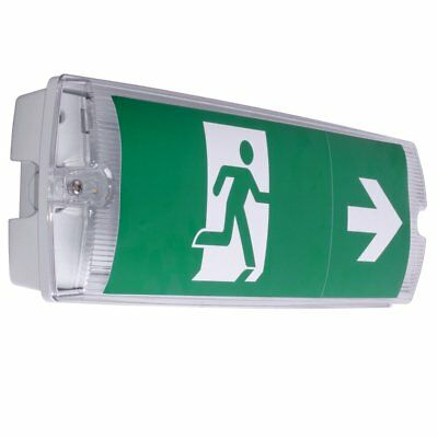 LED Emergency Exit Light V-Tac 3W Bulkhead with Running Man Stickers - IP65