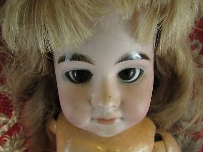 antik Puppe Kopf Porzellan antique doll 19 AM Deutschland no10 1894 60cm
