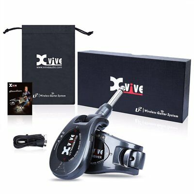 Xvive U2 Rechargeable Digital Wireless Guitar System Dark Grey.USB Charged.