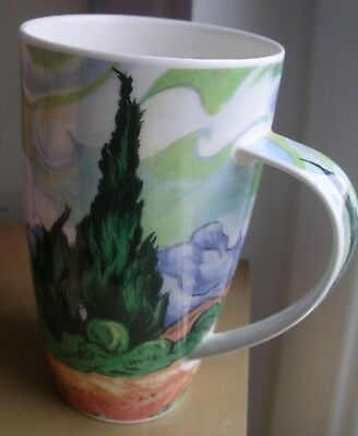 Dunoon large Henley mug Cypresses Impressionists Van Gogh bone china