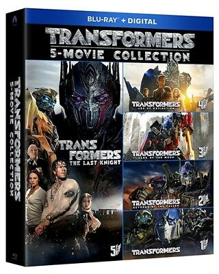 TRANSFORMERS 5 MOVIE COLLECTION New Blu-ray 1 2 3 4 5 Age Dark Revenge Knight