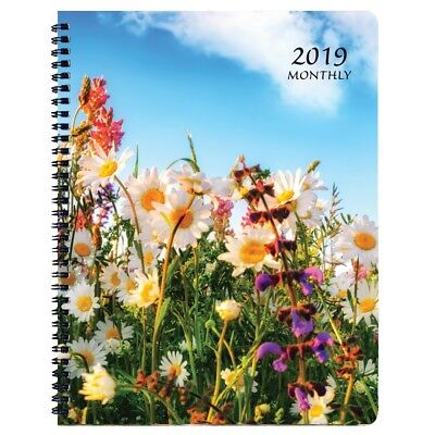 2019 Wildflower Mthly Planner, Monthly Planners by Payne Publishers