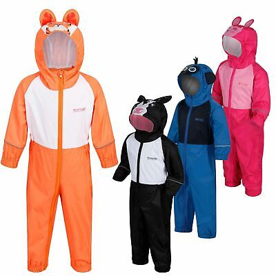 Regatta Kids Charco All in one Waterproof Puddle Suit Animal Design Boys Girls