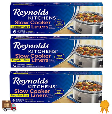 Slow Cooker Liners Cooking Chef Storage Cooks Crock Pot Bags Kitchen Cook 3 Pack