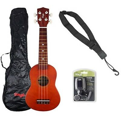 Stagg Soprano Ukulele Starter Kit with Bag, Tuner and Strap