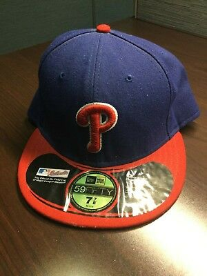 6c09a78c96c New Era 59FIFTY Philadelphia Phillies Red Blue Fitted Hat Size 7 7 8