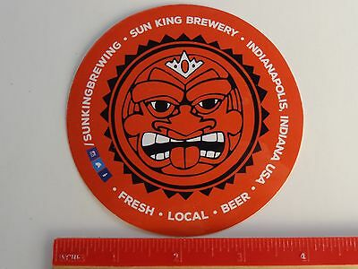 Beer STICKER ~ SUN KING Brewing Co ~ Indianapolis, IN See STORE 4 More