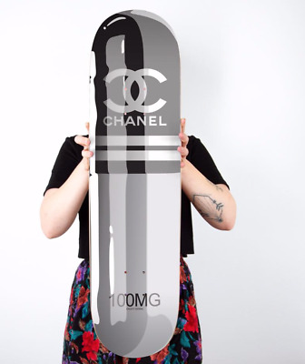 "ART - Skateboard Deck "" Chanel Pill "" by DENIAL - Artist Proof (Brand new)"