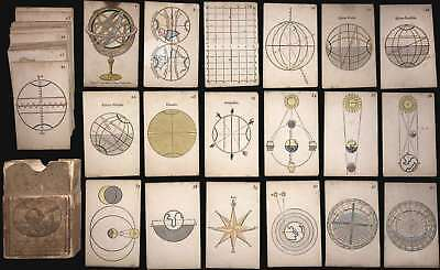 1806 Paris Geography and Astronomy Card Game (42 Cards)