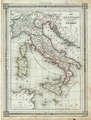 1852 Dufour Map of  Italy in Antiquity
