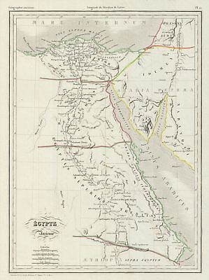 1843 Malte-Brun Map of Ancient Egypt