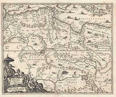 1686 Dapper Map of North Africa : Morocco, Algeria, Tunisia, Libya