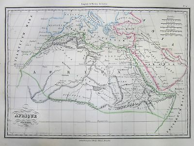 1837 Malte-Brun Map of Africa in Ancient Times