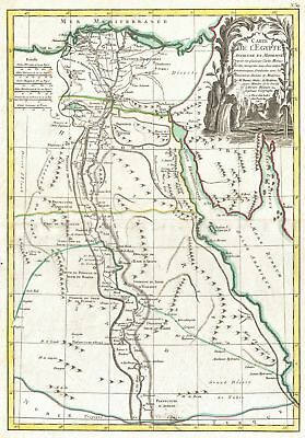 1762 Bonne Map of Egypt