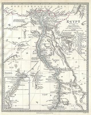 1831 S.D.U.K. Map of Egypt