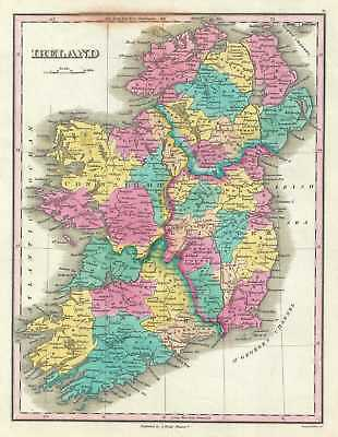 1828 Finley Map of Ireland