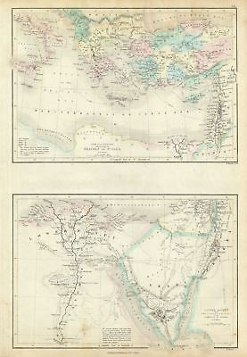 1851 Black Map of Egypt, Arabia and Asia Minor