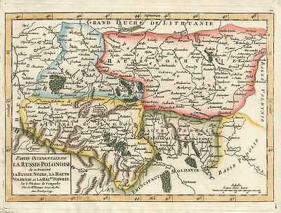 1749 Vaugondy Map of Western European Russia