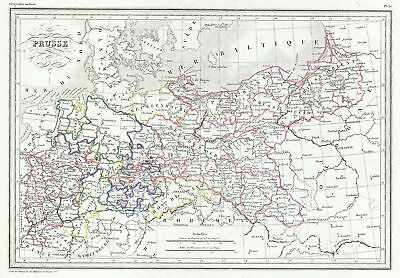 1843 Malte-Brun Map of Prussia, Germany