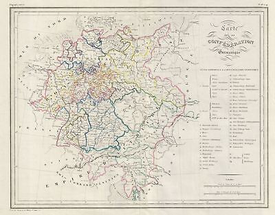 1843 Malte-Brun Map of Germany